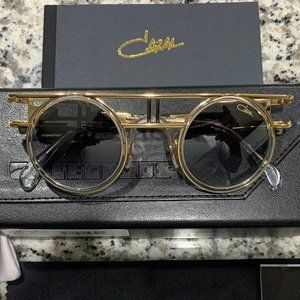 NEW Authentic Cazal 668 Limited Edition Gold Clear